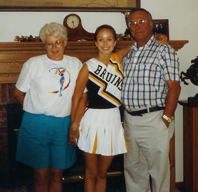 Cheerleader with GM and Papa