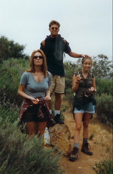 hiking with Mom and MIke