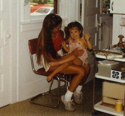 w-Sitting on mom's lap